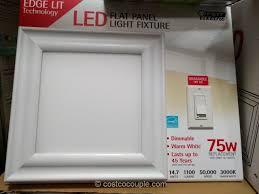 Costco Led Light Fixture 40 Each Feit Electric Led Flat Panel Light Fixture Costco