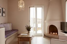 appealing bedroom with fireplace for calmness rest villa diles u0026 rinies tinos town greece booking com