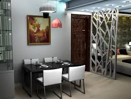 black metal chandelier small formal dining room beige painted wall