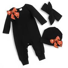 halloween body suit newborn halloween romper black orange baby halloween