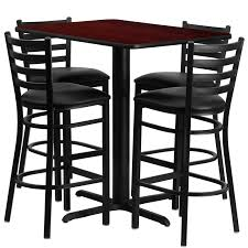 metal bar height table laminate table set 24 x 42 bar height restaurant table sets