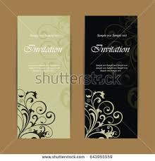 Beautiful Wedding Invitations Beautiful Wedding Invitations Vintage Floral Elements Stock Vector