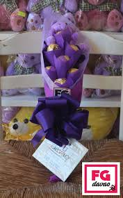 candy bouquet delivery 7pc purple themed chocolate purple chocolate