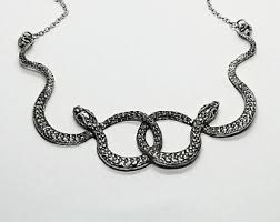 necklace metal images Snake necklace etsy jpg