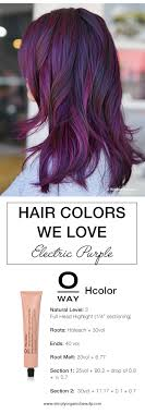 purple hair color formula trending hair colors this week with formulas simply organic beauty