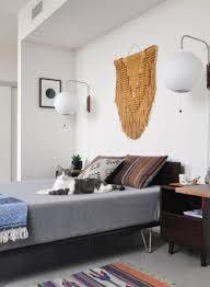Midcentury Modern Bedroom Mid Century Modern Master Bedroom C Shaped Unique Nightstands Gray