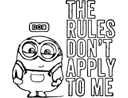 coloring pages minion coloring pages bob designs canvas minion