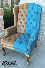 Change Upholstery On Chair by Paint Velvet Fabric A Chair Makeover The Magic Brush Inc