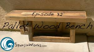 Bench 32 Easy Pallet Wood Bench From 3 Pallets Diy Ep 32 Youtube