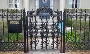 fence wrought iron garden gates beautiful iron gate fence