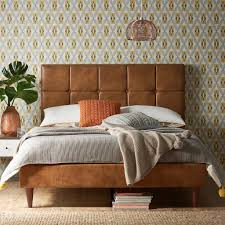 faux leather upholstered bed frames u2013 the furniture co