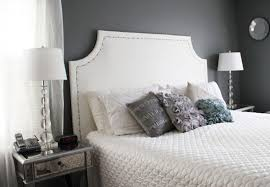 White Cushioned Headboard by Inspirational White Painted Headboards 80 In Diy Upholstered