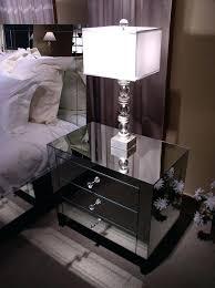 Mirrored Glass Nightstand Mirrored Glass Bedside Table Round Mirrored Bedside Table Walton