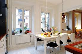 modern in small apartment living room with bar kitchen design dark