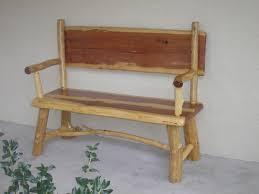 Rustic Log Benches - dramatic wooden entryway storage bench tags entryway bench with