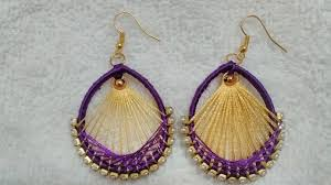 trendy earrings trendy silk thread earring using bangle