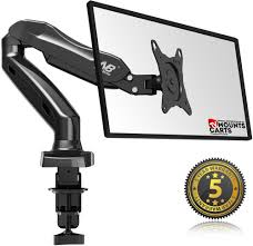 articulating monitor desk mount f80 universal articulating gas spring desk mount for 17 27