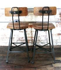 industrial metal bar stools with backs bar stools industrial great industrial bar stool with back