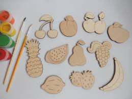 11 fruit wood craft shapes for coloring craft