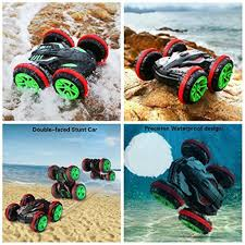 amphibious vehicle et rc car amphibious vehicle double sided stunt car 1 18 scale 360