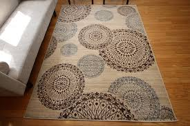 Modern Wool Area Rugs New City Contemporary Modern Flowers Circles Wool Area