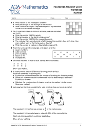 gcse maths revision worksheets by ntsecondary teaching resources