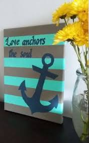 Love Anchors The Soulnautical Anchor - painted custom love anchors the soul canvas gift infinity anchor