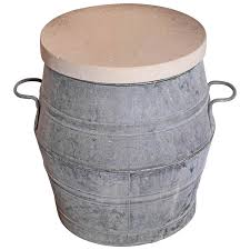 Barrel Side Table Dolly Tub Barrel Side Table Omero Home