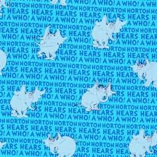 cotton fabric character fabric horton hears dr seuss