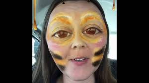 Bumble Bee Makeup For Halloween by Snapchat Bee Singing And Makeup Youtube