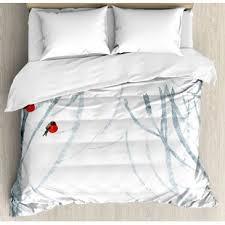 themed duvet cover winter themed bedding wayfair