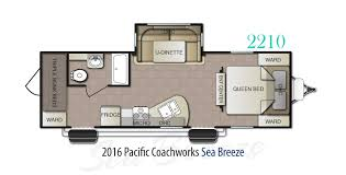 2016 pacific coachworks sea breeze 2210 stock sb16034 the rv