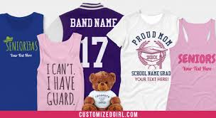 high school senior apparel custom apparel for high school customizedgirl