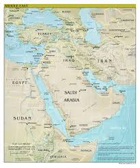 Middle Eastern Map Large Scale Detailed Political Map Of The Middle East With Relief