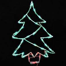 18 lighted led tree window silhouette decoration