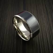 black zirconium wedding bands 14k white gold and black zirconium wedding band revolution jewelry
