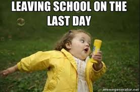 Highschool Memes - last day of school in elementary vs high school the talon