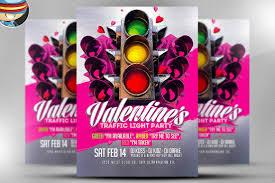 valentine u0027s traffic light psd flyer flyer templates creative