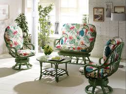 salon de veranda en osier fauteuil pivotant en rotin brin d u0027ouest