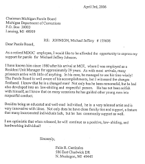 parole board support letter examples docoments ojazlink
