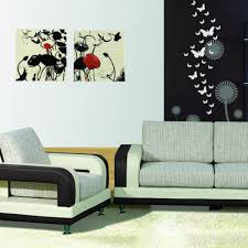 diy 3d modern 30pcs butterfly combination wall stickers silver