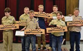 arrow of light award images 7 charles city boys earn arrow of light award charles city press