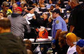 toronto lexus on the park cubs pirates shaken after fan struck by foul ball behind backstop