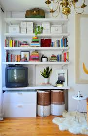 5 smart ways to style and organize open shelves apartment therapy