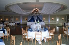 best navy blue wedding decorations with just some table decor
