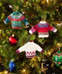 Ugly Christmas Sweater Decorations Mini Christmas Sweaters To Knit And Crochet U2013 Free Patterns