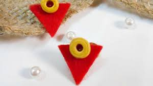 felt earrings how to make beautiful felt earrings diy style tutorial