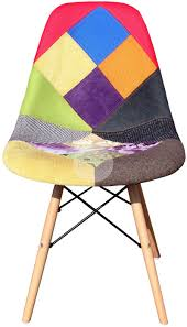 dsw eames chair replica bright patchwork chair timber furniture