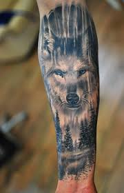 amazing forearm wolf tattoos for pop wolf