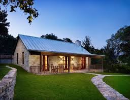 texas stone house plans texas ranch house plans stone exterior wood pillars fence patio